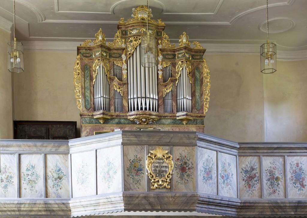 Die Orgel von St. Peter und Paul in Püchersreuth (Foto: S. Gruber)