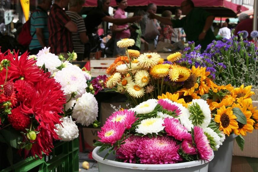 Wochenmarkt in Weiden (Foto: Götte)